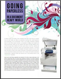 Going paperless in a document and paper-heavy world