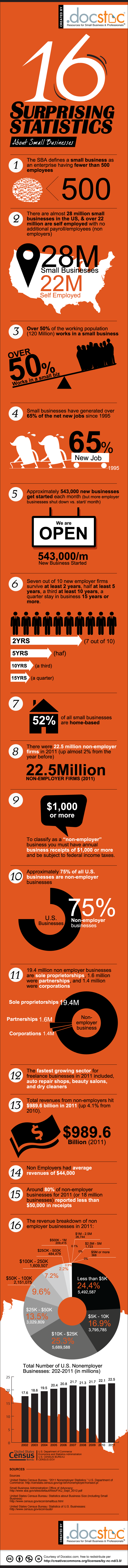 Docstoc small business statistics infographic