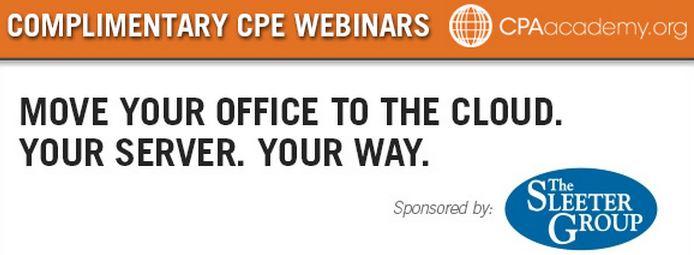 CPE credit webinar